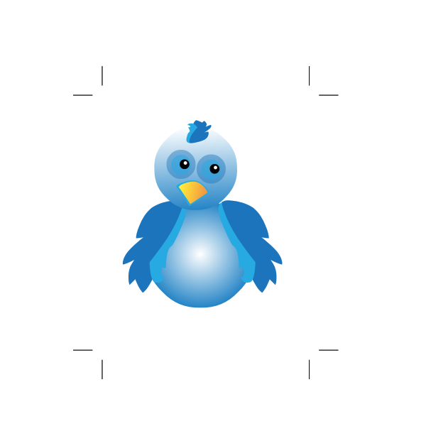 2D image of blue bird