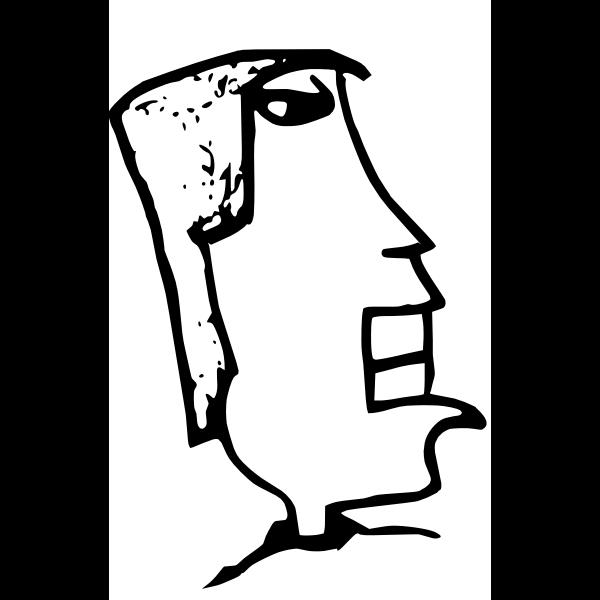 Abstract man drawing