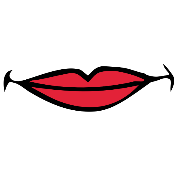 Vector image of female smiling lips