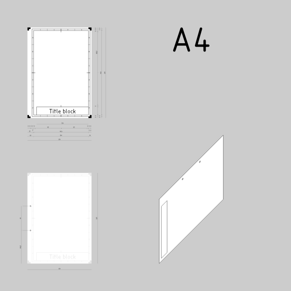 A4 sized technical drawings paper template vector image