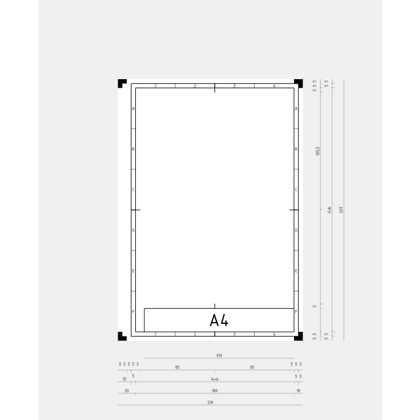 DIN A4 template vector image