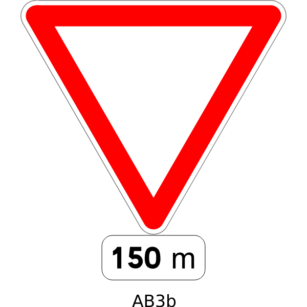 Give way road sign vector image
