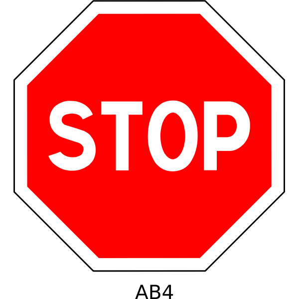 Stop road sign vector illustration