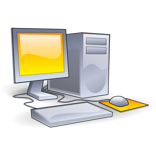 Color old style computer vector graphics