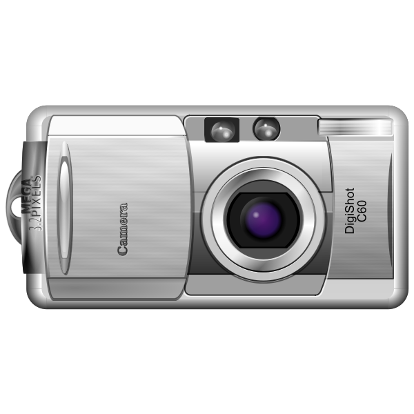 Vector clip art of open and shoot digital camera
