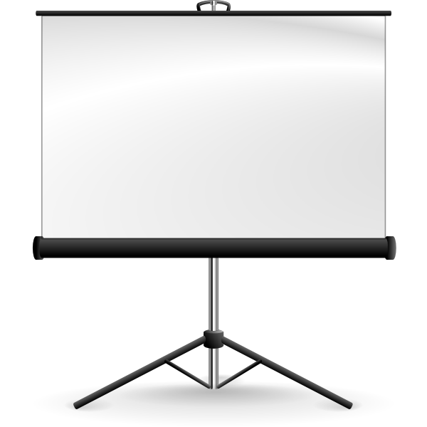 Portable projection screen vector image