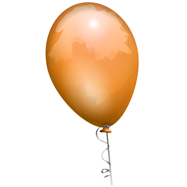 Orange balloon vector image