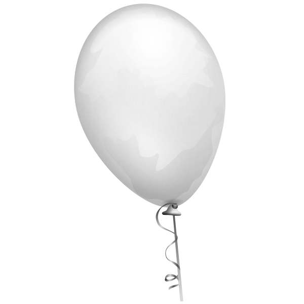 Grey balloon vector illustration