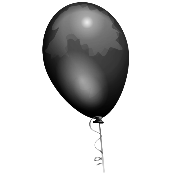 Black balloon vector drawing