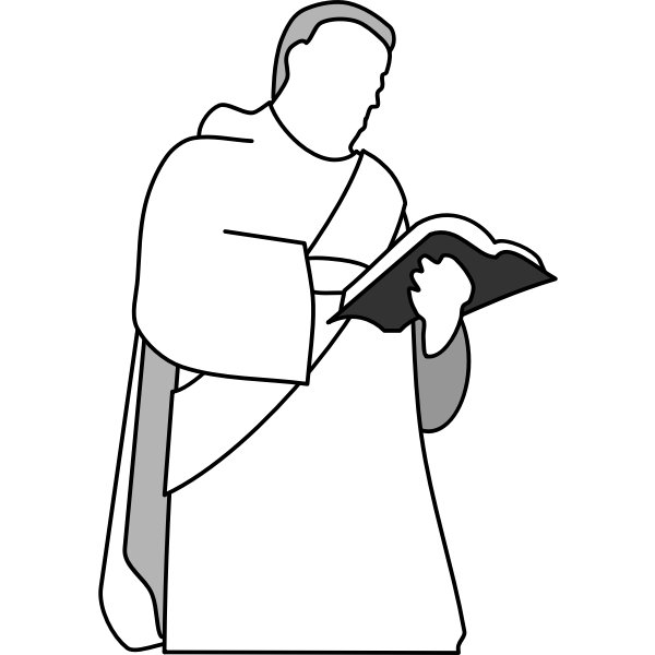 Vector drawing of Christian deacon