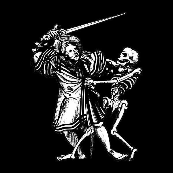 Man fighting death vector graphics