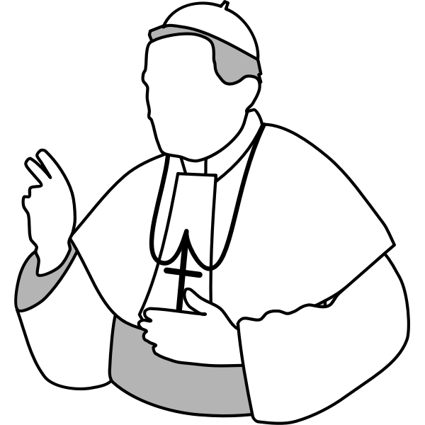 Vector drawing of the Pope