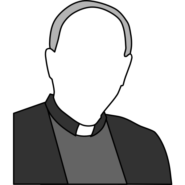 Vector drawing of a priest