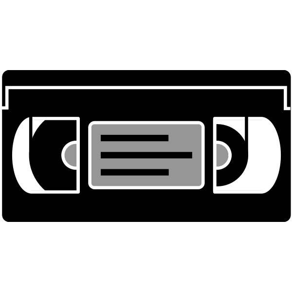 VHS tape vector image