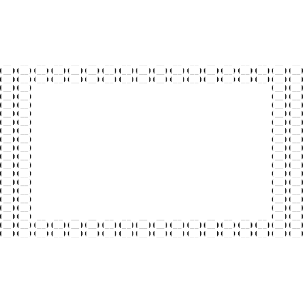 Vector illustration of ASCII Bubble Border