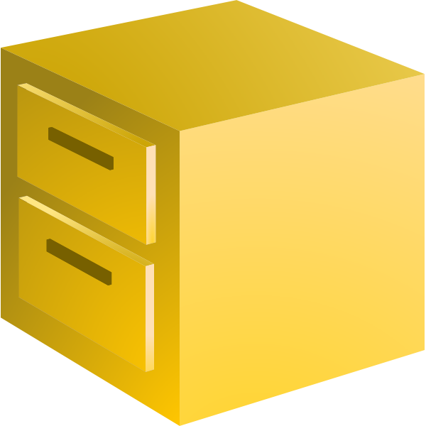 Filing cabinet vector image