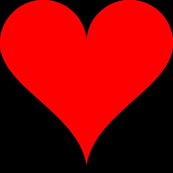 A SVG semicircle heart