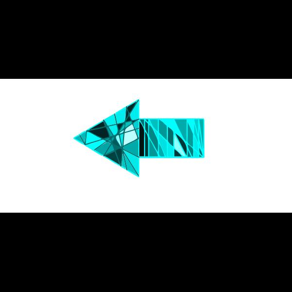 Blue decorative arrow