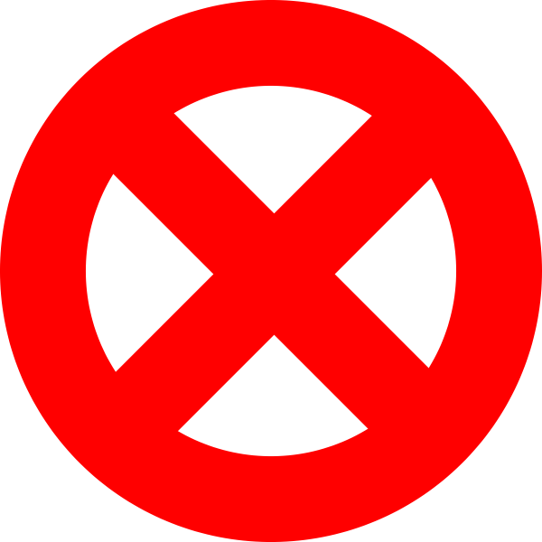 Vector image of prohibition sign