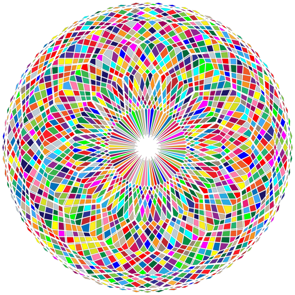 Abstract Circle Colorful Remix