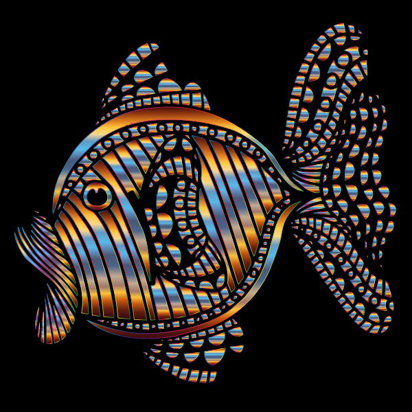 Abstract Colorful Fish 10 With Background