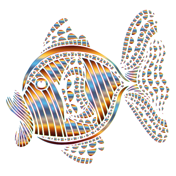 Abstract Colorful Fish 10