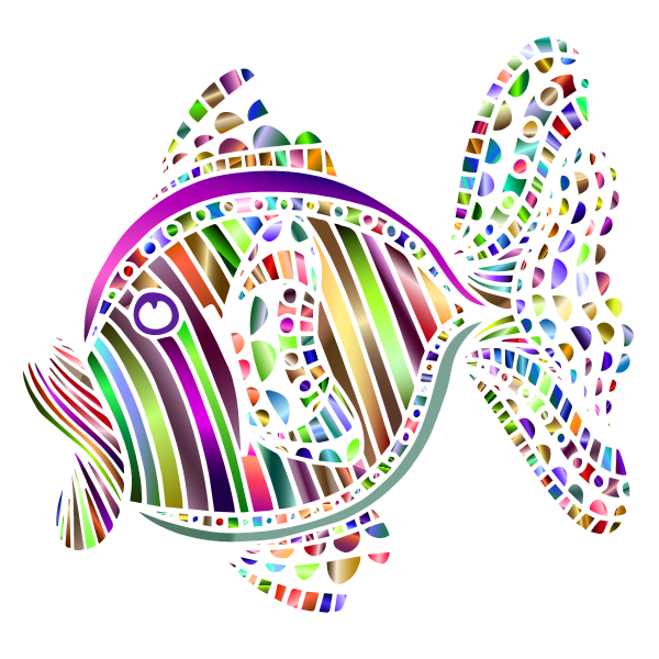 Abstract Colorful Fish 3