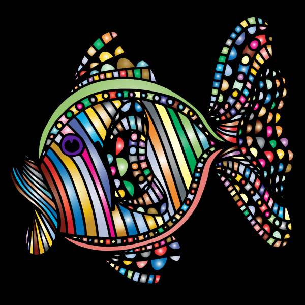 Abstract Colorful Fish 4 With Background