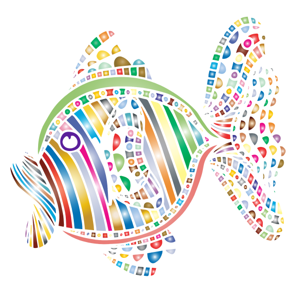 Abstract Colorful Fish 4