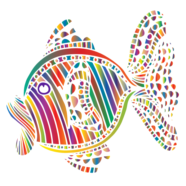 Abstract Colorful Fish 6