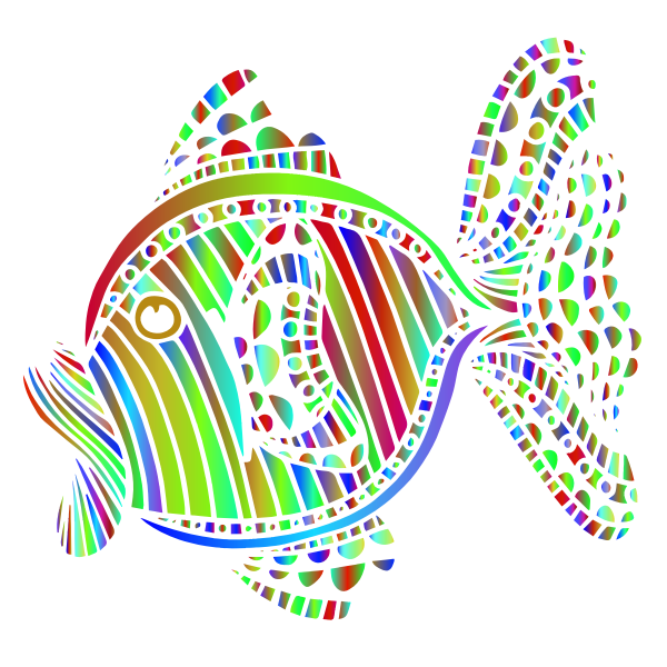 Abstract Colorful Fish 7
