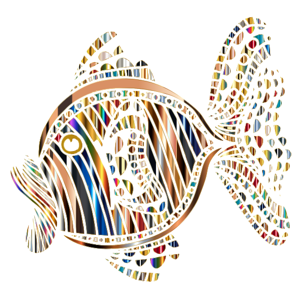 Abstract Colorful Fish 8 Variation 2