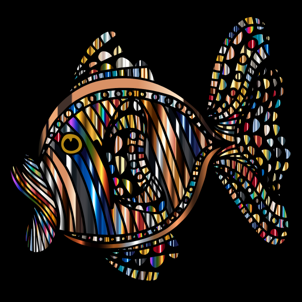 Abstract Colorful Fish 8 With Background
