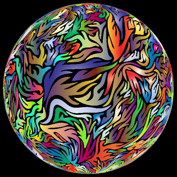Abstract Flame Ball