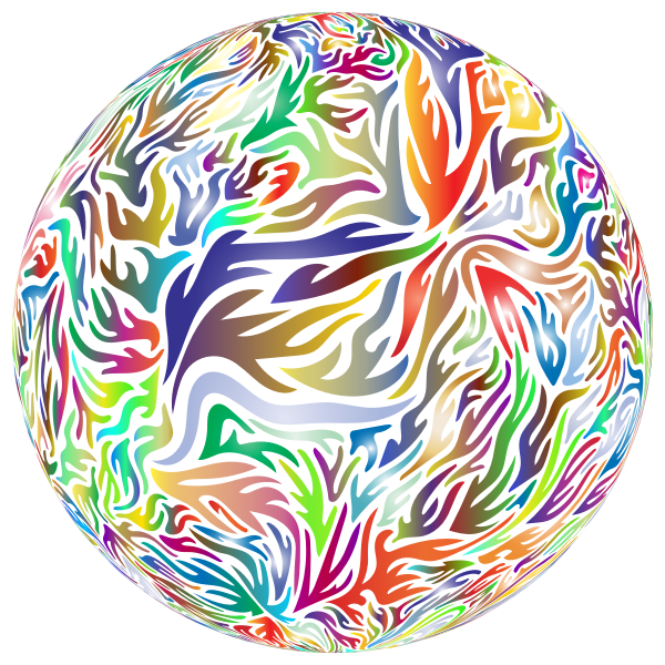 Abstract Flame Ball