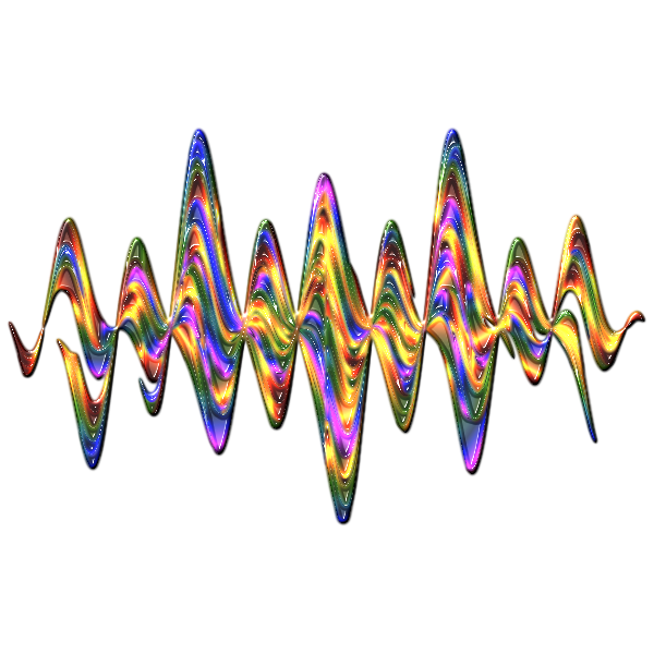 Abstract Rainbow Waves 2