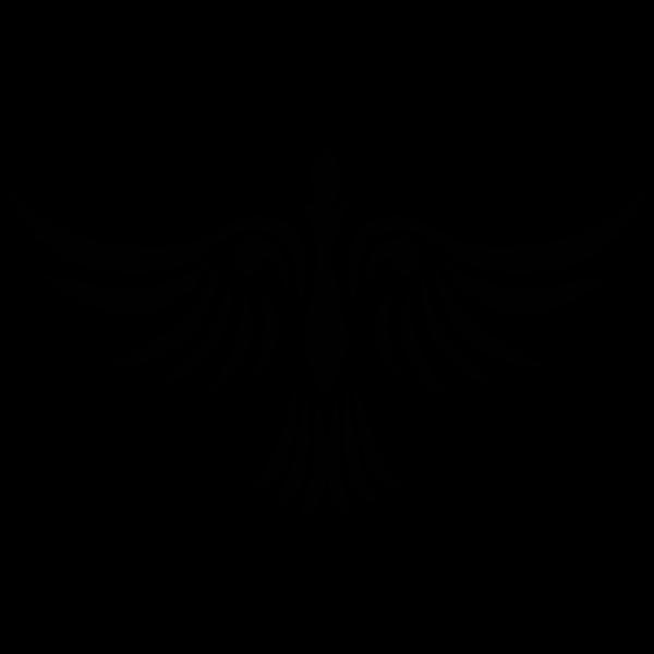 Abstract tribal bird outline vector clip art