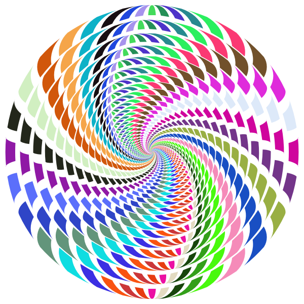 Abstract colorful vortex