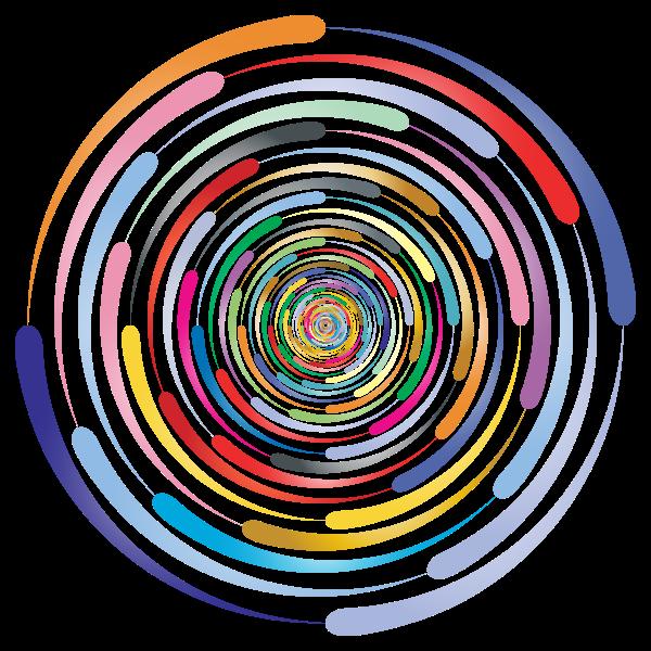 Colorful prismatic circle