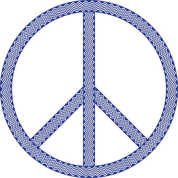 Abstract Waves Peace Sign