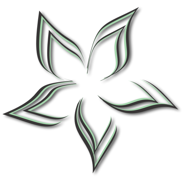 Abstract Flower black and green