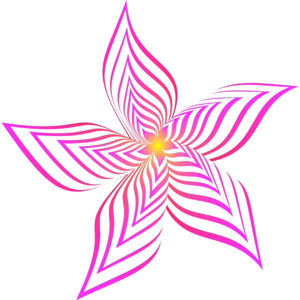 Abstract Flower Colour magenta