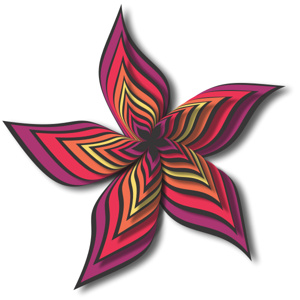 Abstract Flower Red Color