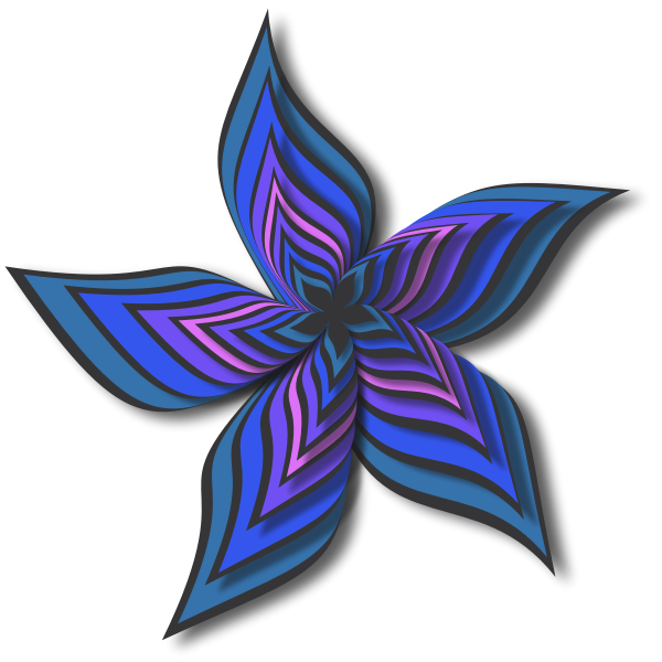 Abstract Flower Colour blue