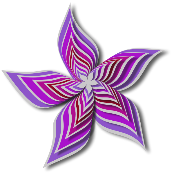 Abstract Flower Colour violer