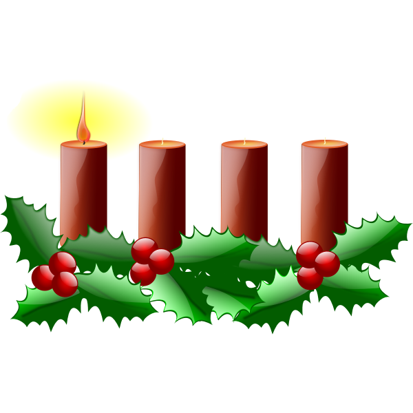 First Sunday in advent vector clip art