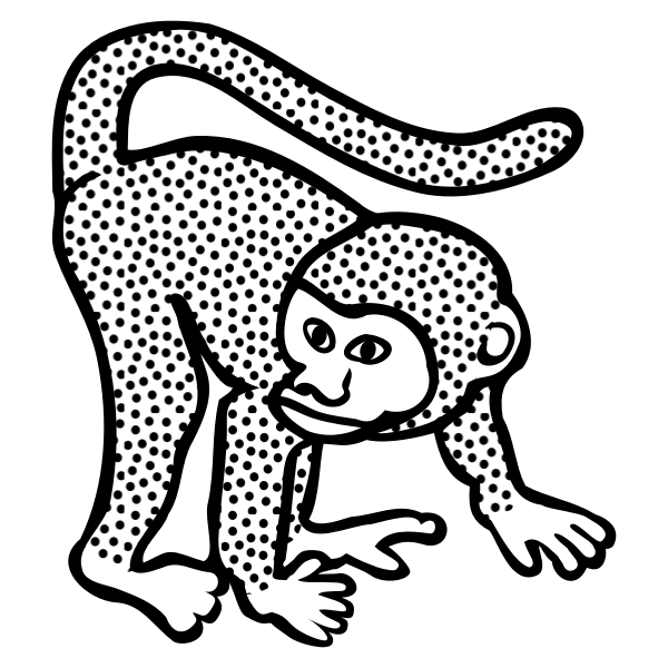 Vector image of spotty monkey