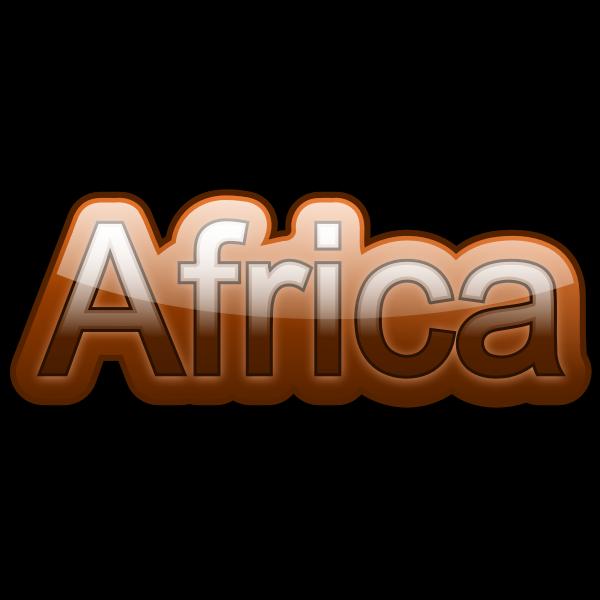 ''Africa'' sticker vector image