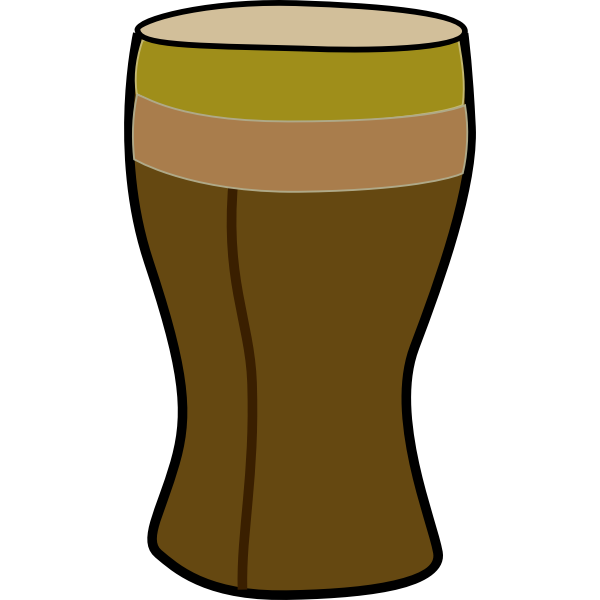 Vector clip art of tall African drum