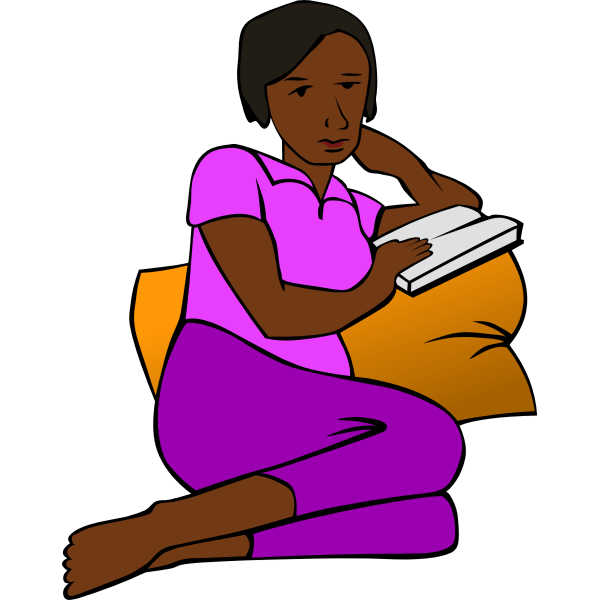 Woman reading and resting